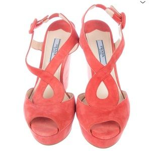 Parade Suede Wedge Platform Sandal Size 37